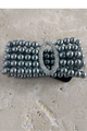 Faux Pearl Department Store Bracelet. Color: Onyx  (G-5)