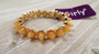 Gold Amber Spikes  Stretch Bracelet from GIRLY