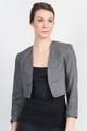 Stone Grey Bolero Blazer is 25% Wool! (A-49)
