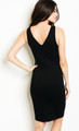Sleeveless LBD Plunging V Neck & Back Features Lace Up accent  (17-13)