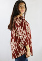 Off The Shoulder Long Sleeve Multi color Print Tunic Shirt   (17-59)