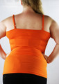 Plus Size Adjustable Strap Orange Tank Top w/Lace trim (H-4)