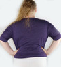 Plus Size Cotton Purple Top By Artisan Apparel (H-59)