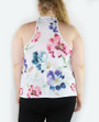 Plus Size Sleeveless Soft Floral Print Tunic Top (18-1)