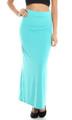 Maxi Long Skirt Solid Light Peacock Teal (20-26)