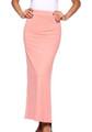 Maxi Long Skirt Solid Peach  (20-27)