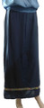 100% Rayon Maxi Skirt with Embroidery Hem Navy (i-3)