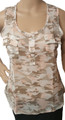 Chiffon Junior Sleeveless Pink/Grey Camouflage Top (i-11)