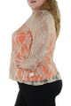 Plus Size Nude Floral Lace Top By Carrie Allen (i-8)