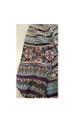 Comfy Multicolor Purple Tribal  Print Romper (22-25)
