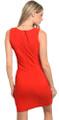 Sleeveless Corset Front Detail Red/Black Dress (22-36)