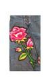 Floral Patch Split Lace Up Denim Skirt (24-30)