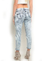 Boyfriend Denim Acid Wash Capri Jean (24-31)