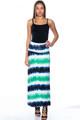 Tie-Dye Fold-over Elastic Waist Maxi Skirt or Strapless Dress (25-14)