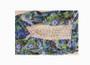 Spaghetti Strap Floral Blue/Olivine Dress (26-5)
