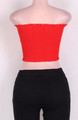 Lace Up Front Tube Cover Top Red (4-149)