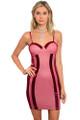 Sexy Spaghetti Strap Bodycon Cranberry Dress (8-2)