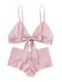 Two-Piece Pink Lace Bralette & Pantie Set (12-9)