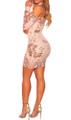 Beautiful! Champagne Sequin Off Shoulder Dress (13-2)