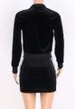 Two-Pc Velvet Hoody | Black Skirt (13-4)