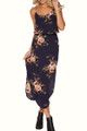 Chiffon Sling Floral Black Maxi Dress (13-24)