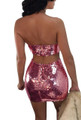 Sexy Sequin Two-Piece Rose Pink Set (13-28)