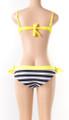 Hot!! Two Piece Padded Stripe Yellow Bikini (13-63)