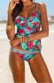 Hot!! Tropical/Leopard Print Two-Piece Swimsuit (13-69)