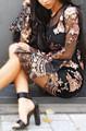 Elegant Sequin Sheer Little Black Dress (13-104)