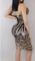 AMAZING! Sheer Sequin Bodycon Black Dress  (13-123)
