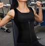 Waist Trainer Black Vest Zipper Front-Hook Closure (13-170)
