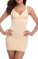 Strap Features V Neck Slim Shapewear Beige (13-172)