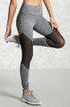 Gray Mesh Breathable Sport Leggings (13-206)