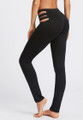 High Waist Cutout Black Sport Leggings (13-207)