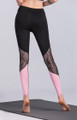 Pink Lace Breathable Elastic Leggings Pants (13-216)