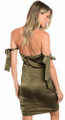 Sexy Strapless Olivine Dress Features Self-Tie (27-7)