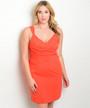 Sexy Plus Size Bodycon Burnt Orange Dress (27-10)