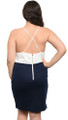 Sexy Plus Size Navy & Off White Dress (27-17)