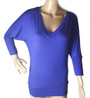 SUPER SOFT! V neckline Royal Blue Top (28-8)