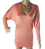 SUPER SOFT! V neckline Coral Top (28-9)