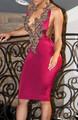 Elegant Embroider Halter Dress Pink (4-55)
