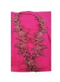 Elegant Floral Halter Dress Fuchsia (4-55)