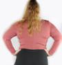 Plus Size Mauve Long Sleeve Cut-Out Bodysuit (30-1)