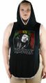 Plus Size Hoody Sleeveless Bob Marley Top (30-2)