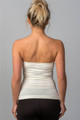Basic Bodycon Strapless Off White Tube Top (30-7)