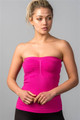 Bodycon Strapless Ruched Fuchsia Tube Top (30-9)