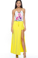 """Life is Beautiful"" Graphic Maxi Skirt W/Shorts (30-12)"