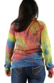 Psychedelic Yellow Bright Tye Dyed Sweater Jacket (32-6)