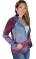 Color Me Purple-Blue Tye Dyed Sweater Jacket (32-7)