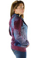 Color Me Purple-Blue Tye Dyed Sweater Jacket (32-7)